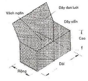 Ưu điểm của rọ đá 1 vách ngăn trong các công trình