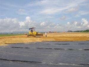 Vải địa kỹ thuật để tăng cường sức chịu tải của nền