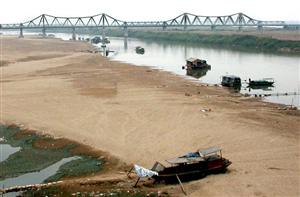 Sông Hồng giảm mực nước gây ảnh hưởng đến nông nghiệp VN
